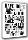 Never Give Up. Motivational/Inspirational Quote Art Canvas. Sizes: A3/A2/A1 (001846)